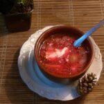 Przepis na barszcz ukraiński z pieczarkami i fasolą