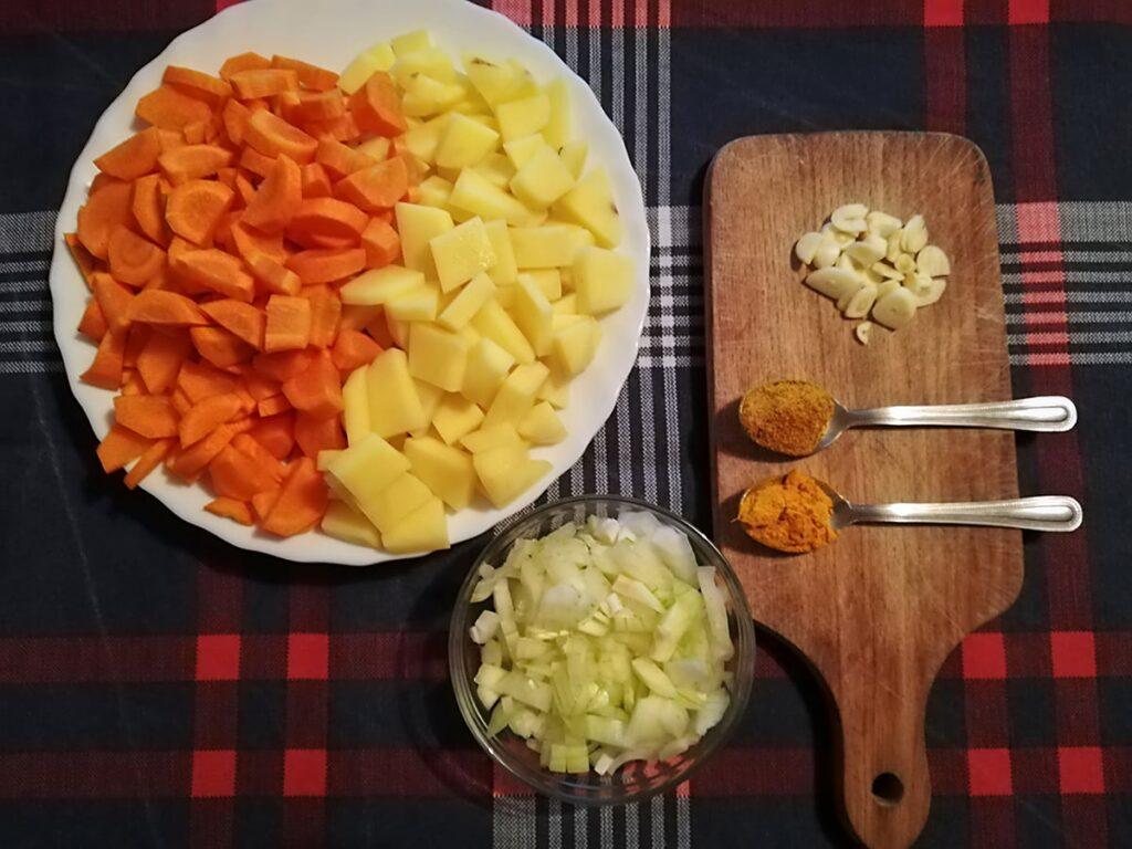 Przepis na zupę marchewkową składniki